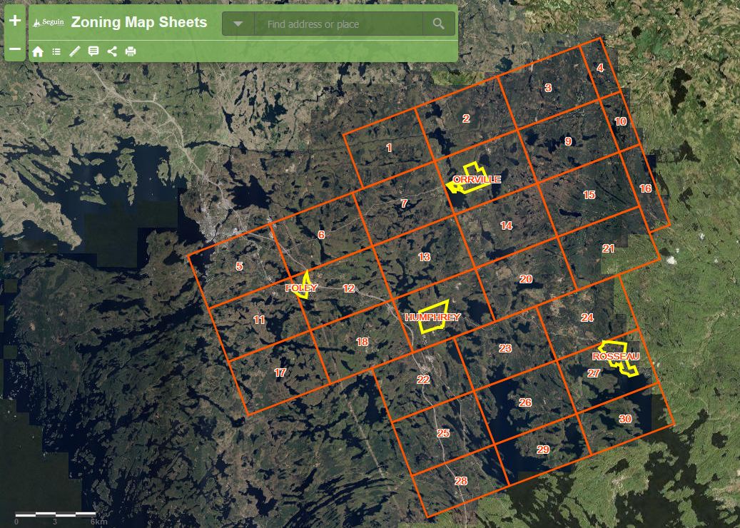 zoning map sheets interactive application