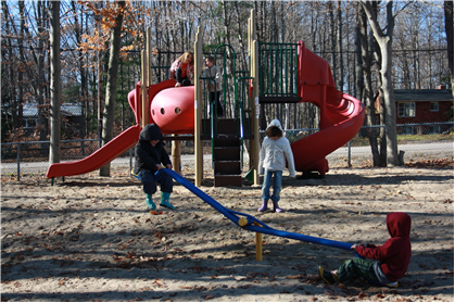 Humphrey Playground is newly renovated.