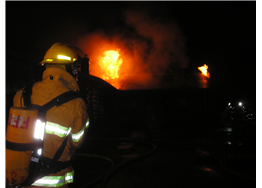 Fighting fires at night