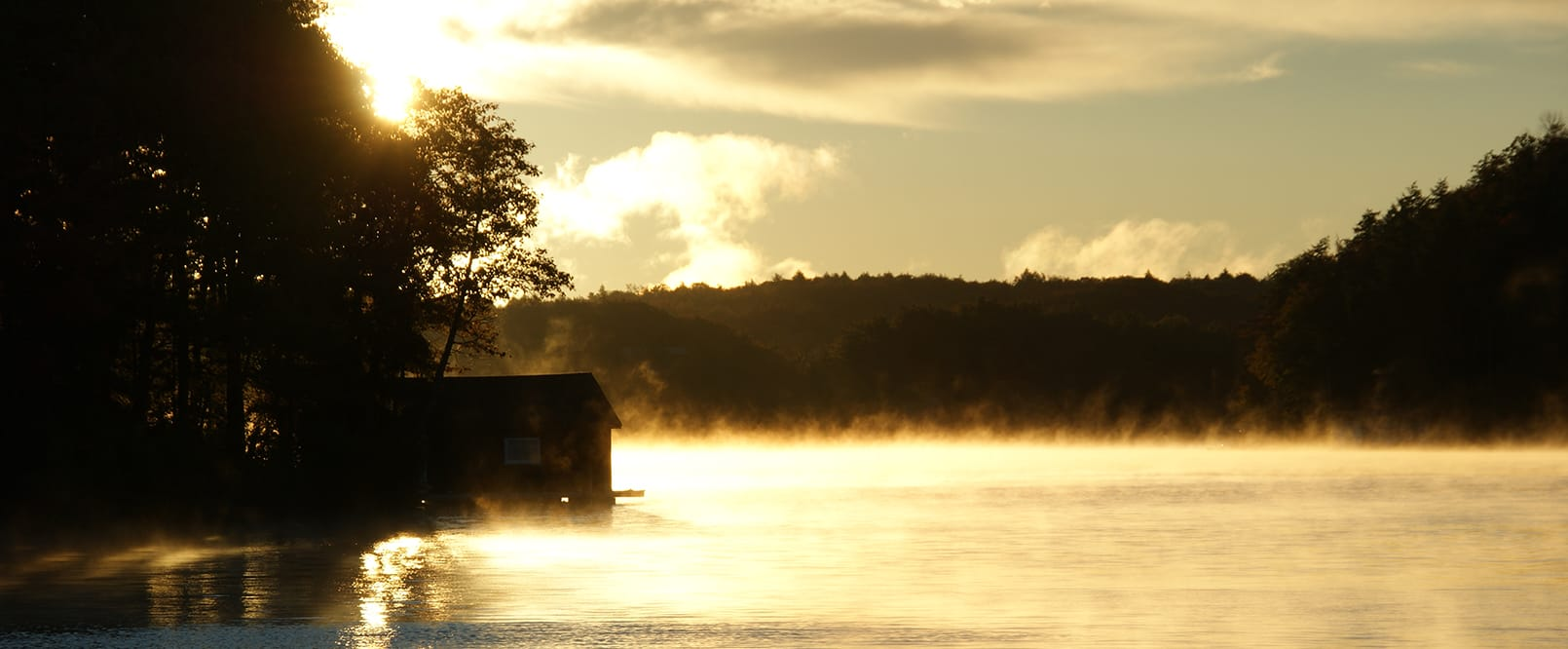 Morning Lake with mist