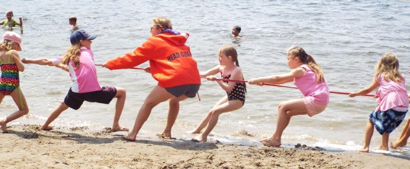 Beach tug of war