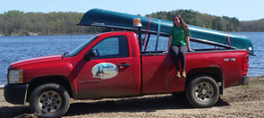 image of water quality truck and canoe