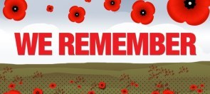 We remember text with poppies