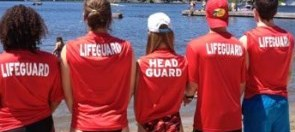 Lifeguards watching the water